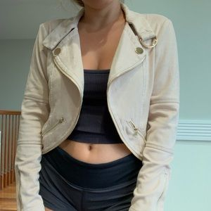 PRIVY SUEDE BLUSH JACKET